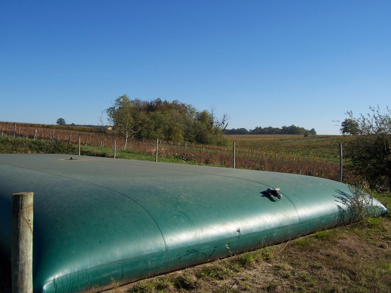 Retenue  d'eau de pluie en toile PVC